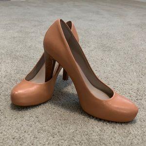 Like New Franco Sarto Peach Heels
